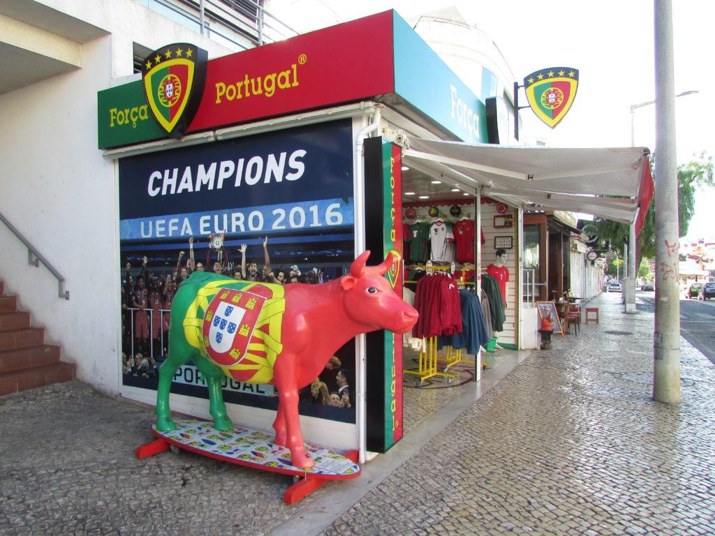 Футбольный магазин в Португалии