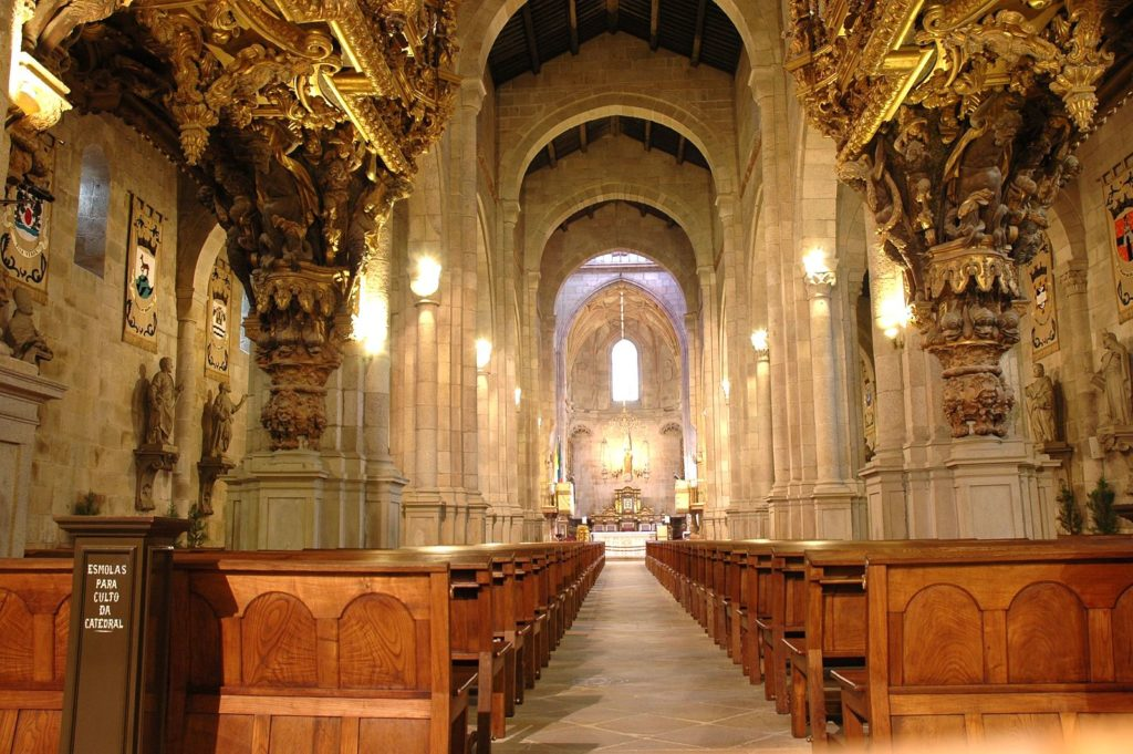 Внутри кафедрального собора в Браге
