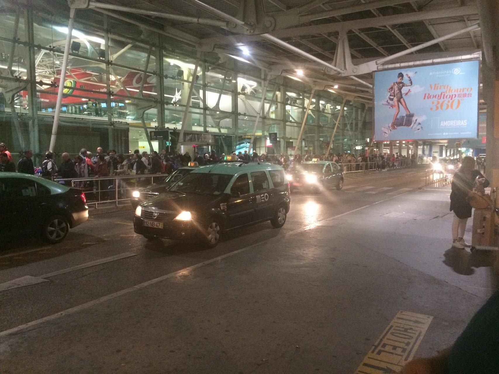 Такси в аэропорту Лиссабона