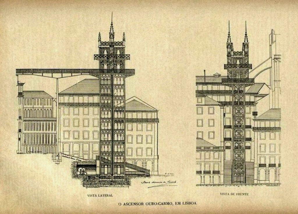 макет лифта в лиссабоне
