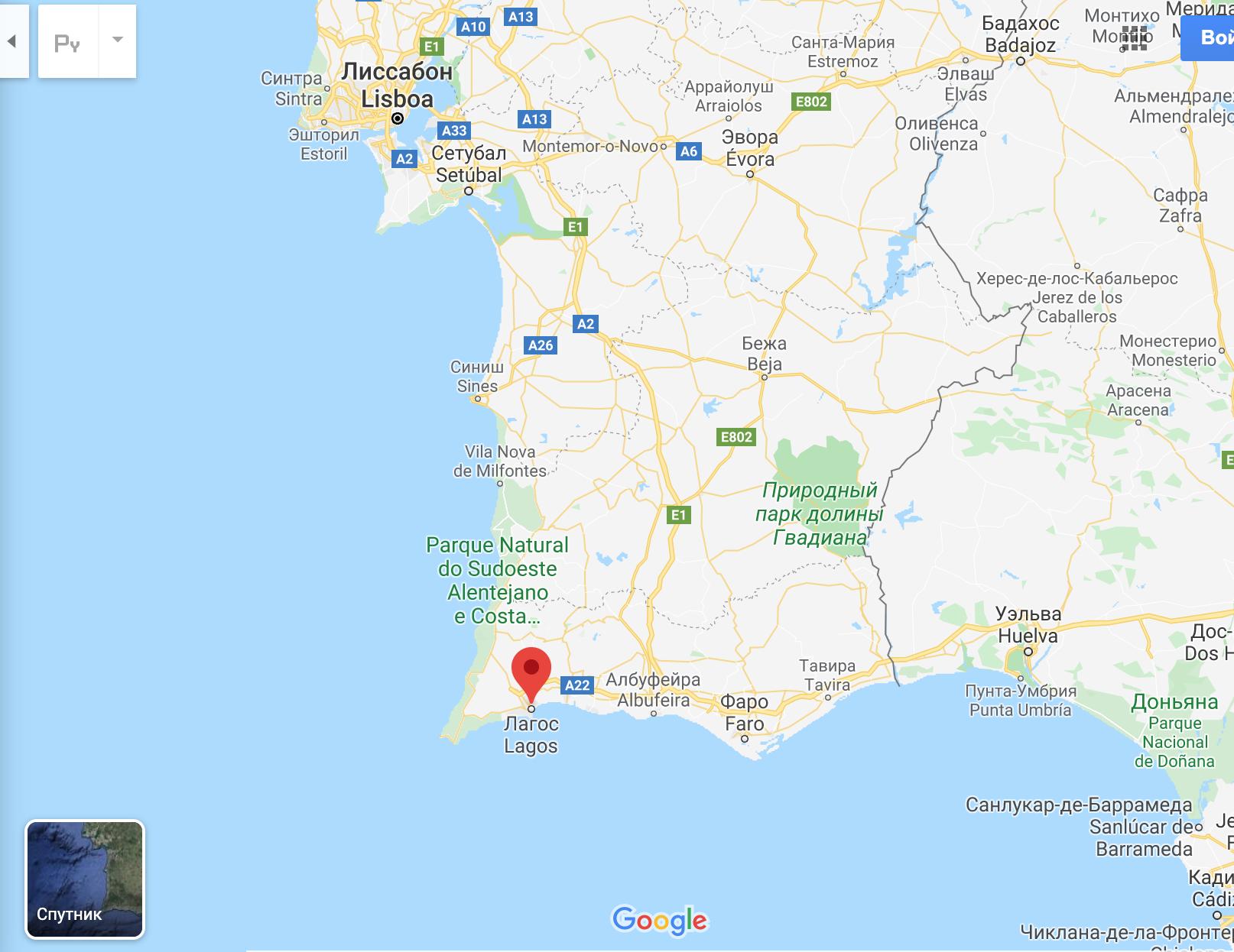 Где находится Лагуш Португалия