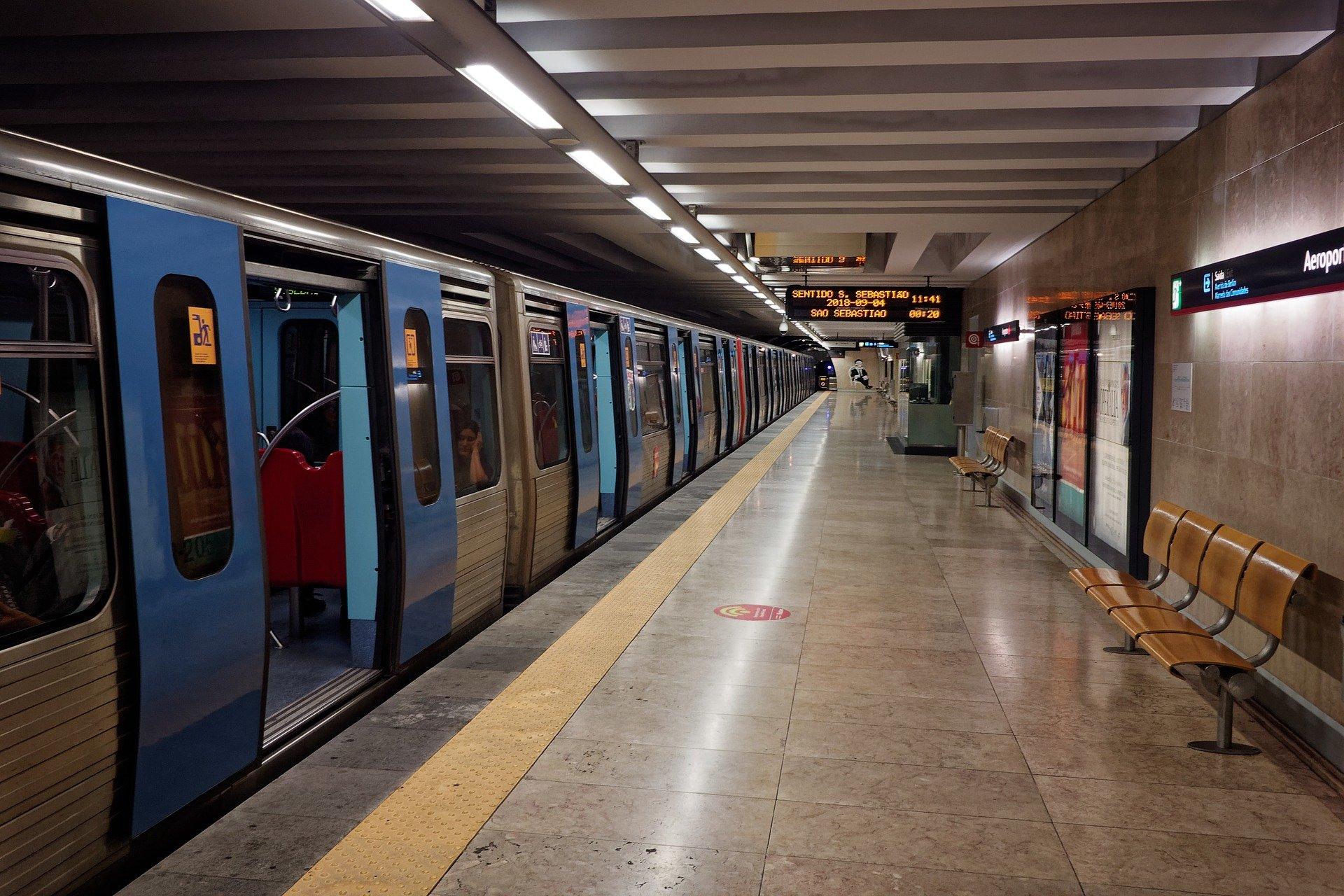 Платформа метро Лиссабон