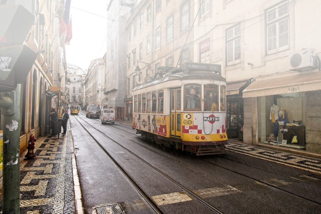Дождливая погода в Лиссабоне