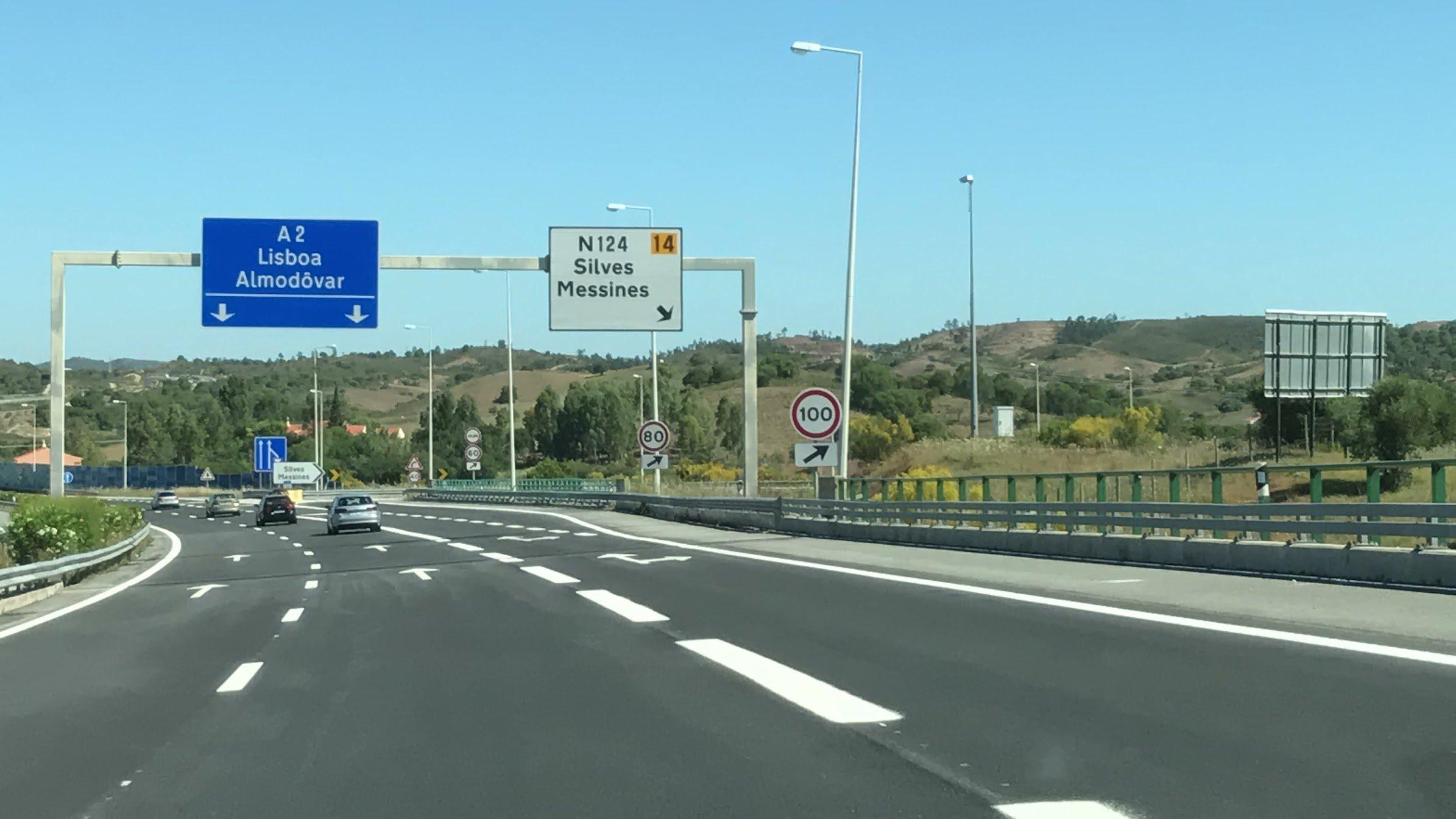 Платная трасса в Португалии
